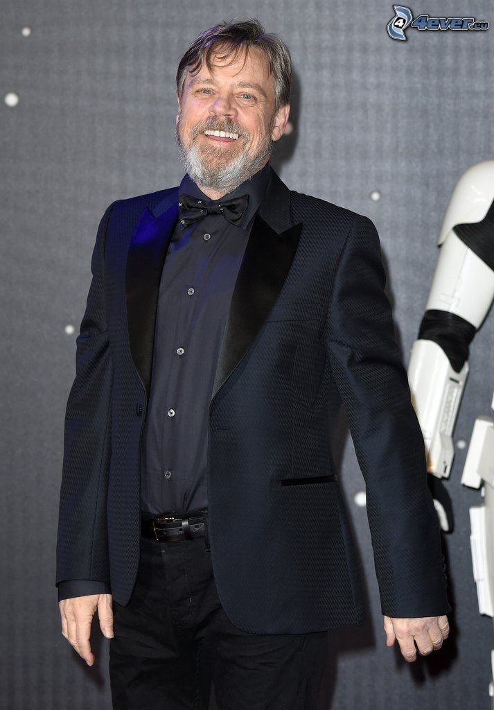 Mark Hamill, laughter, man in suit