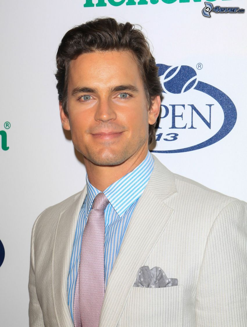 Matt Bomer, man in suit, white suit