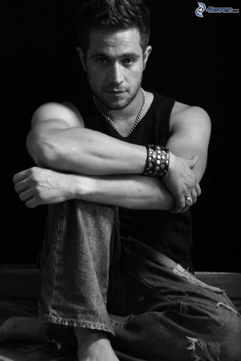 Michel Brown, black and white photo