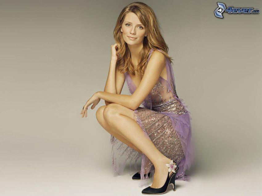 Mischa Barton, purple dress
