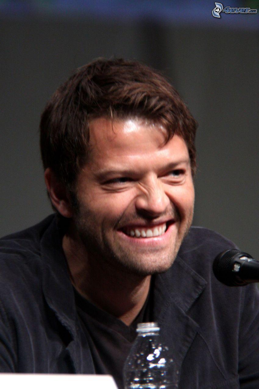 Misha Collins, laughter