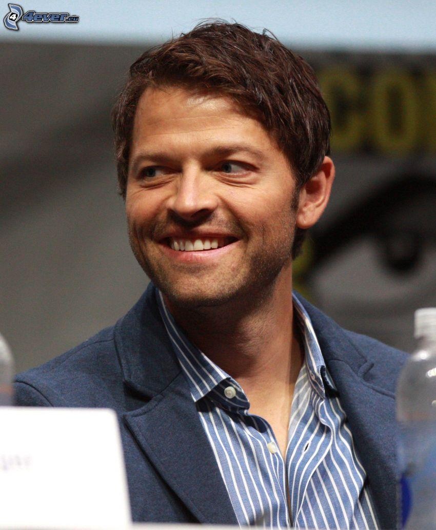 Misha Collins, smile