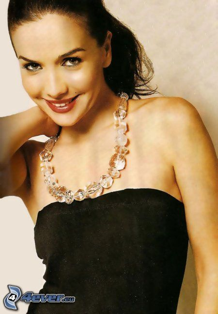 Natalia Oreiro, black dress