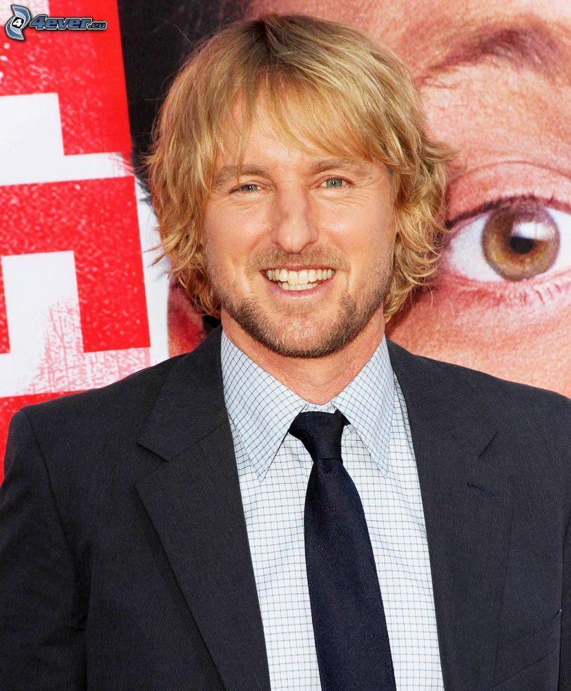 Owen Wilson, laughter, man in suit