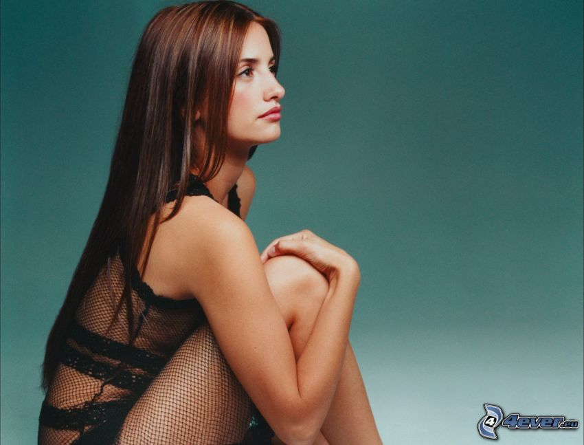 Penelope Cruz, fishnet dress