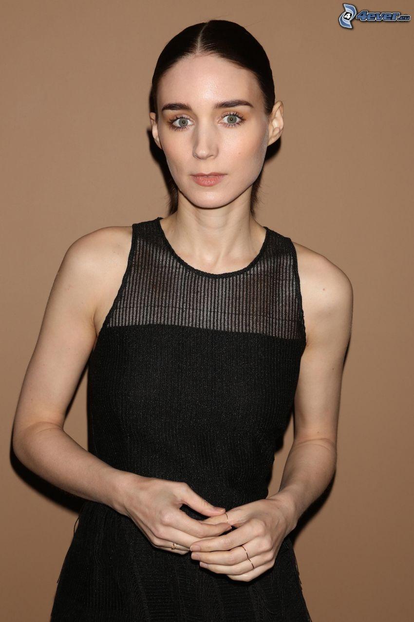 Rooney Mara, black dress