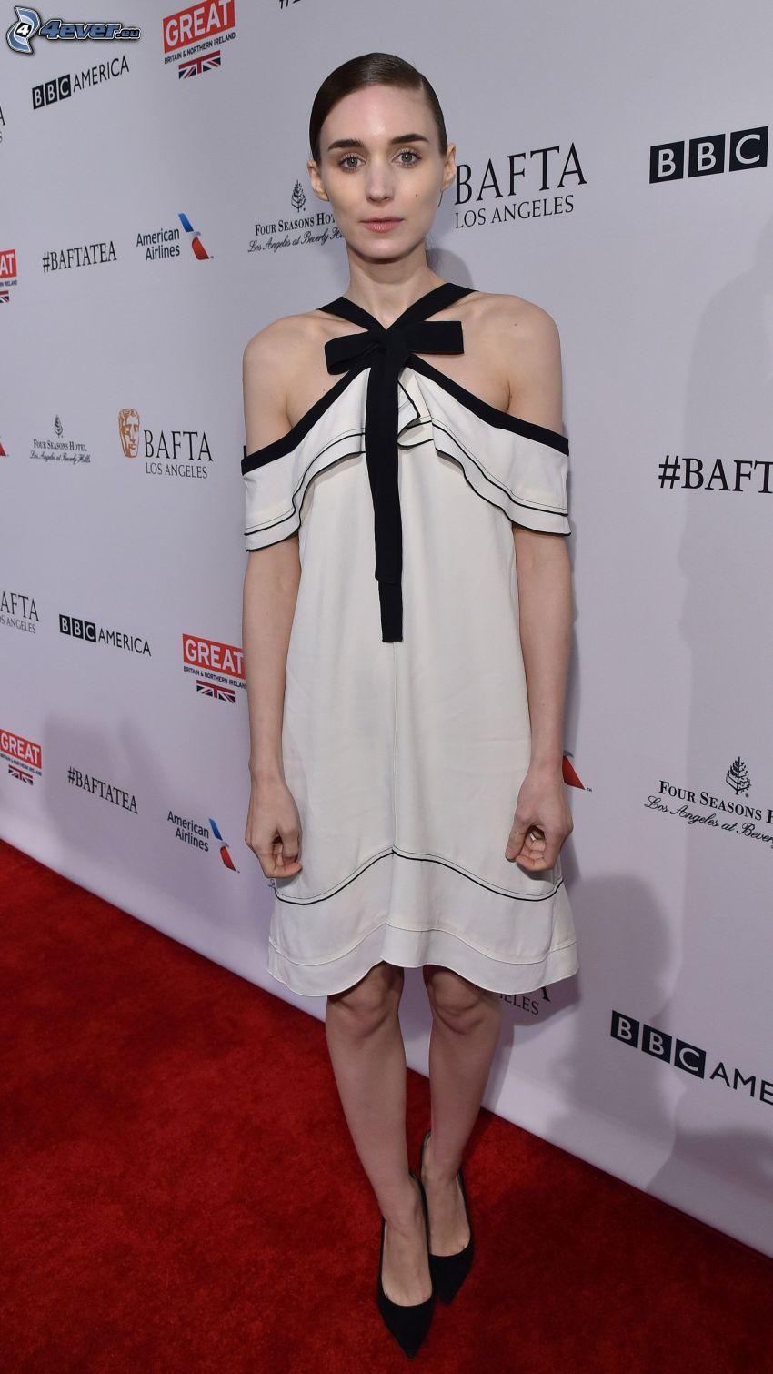 Rooney Mara, white dress