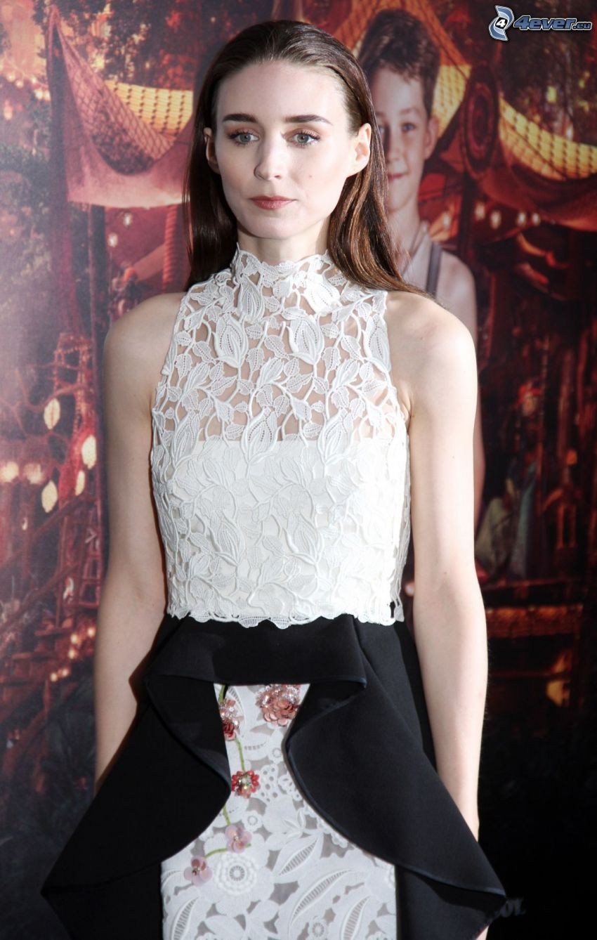 Rooney Mara, white dress