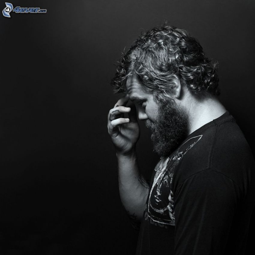 Ryan Dunn, black and white photo