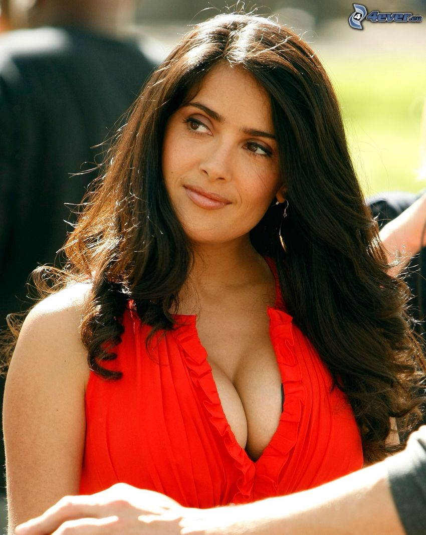 Salma Hayek, red dress