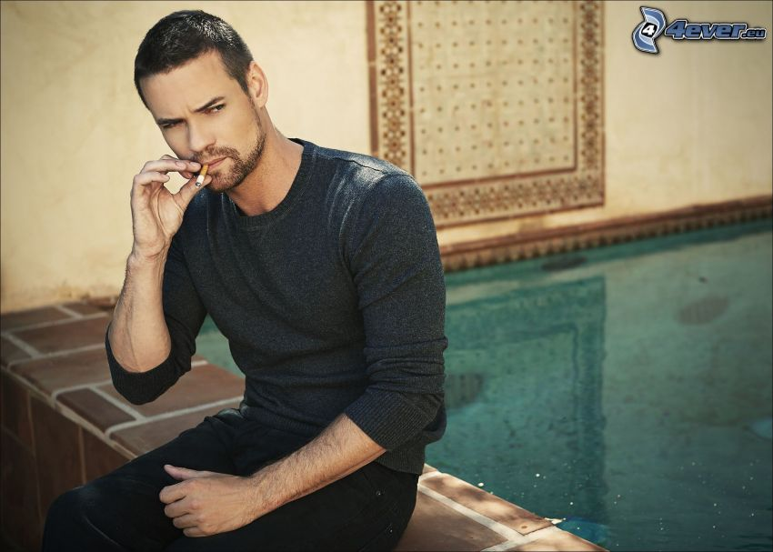 Shane West, smoking, pool