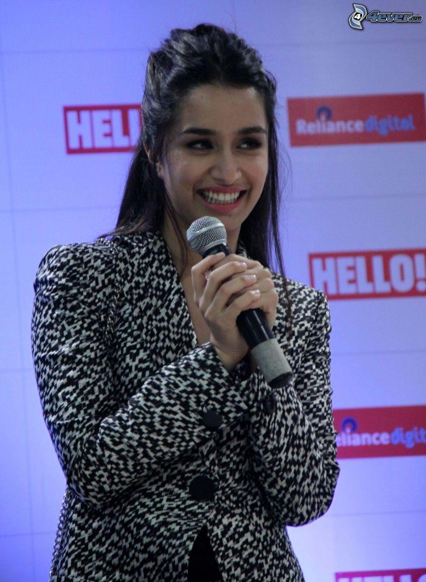 Shraddha Kapoor, microphone