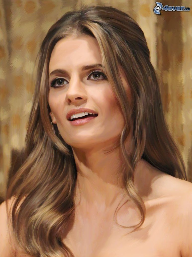 Stana Katic, cartoon