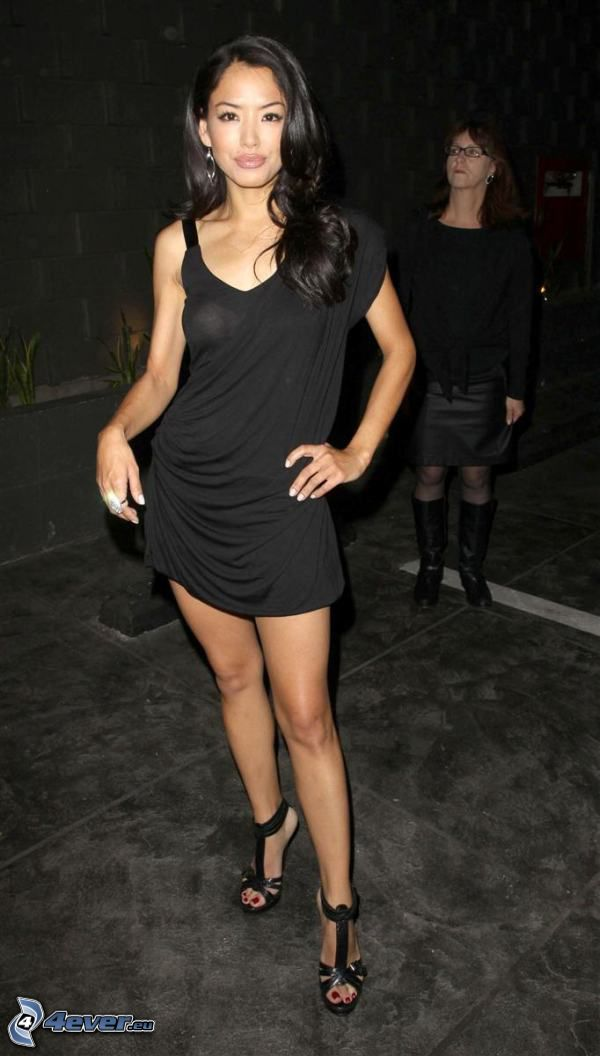Stephanie Jacobsen, black minidress