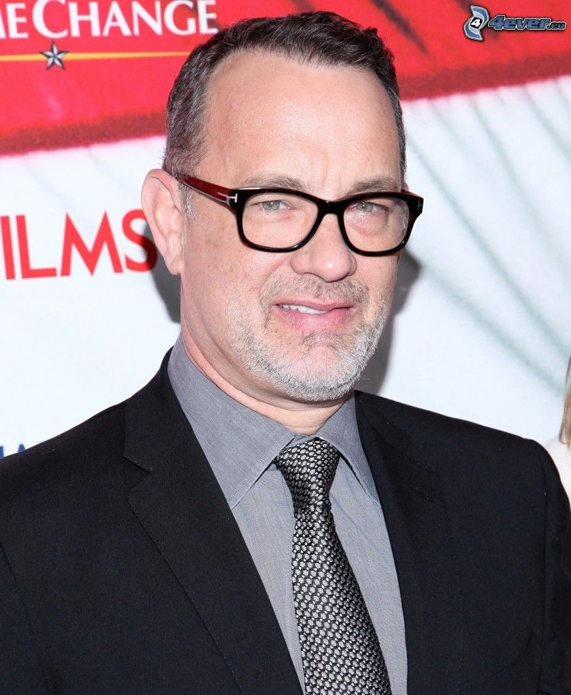 Tom Hanks, man with glasses, man in suit