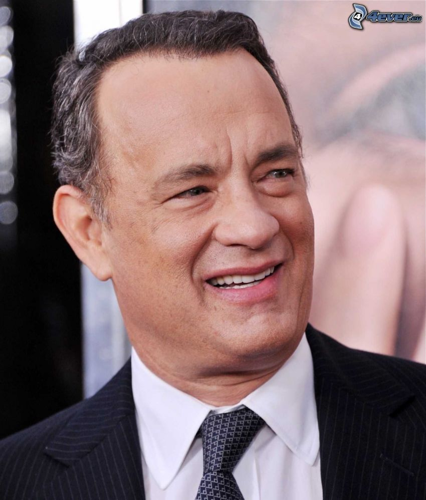 Tom Hanks, smile, man in suit