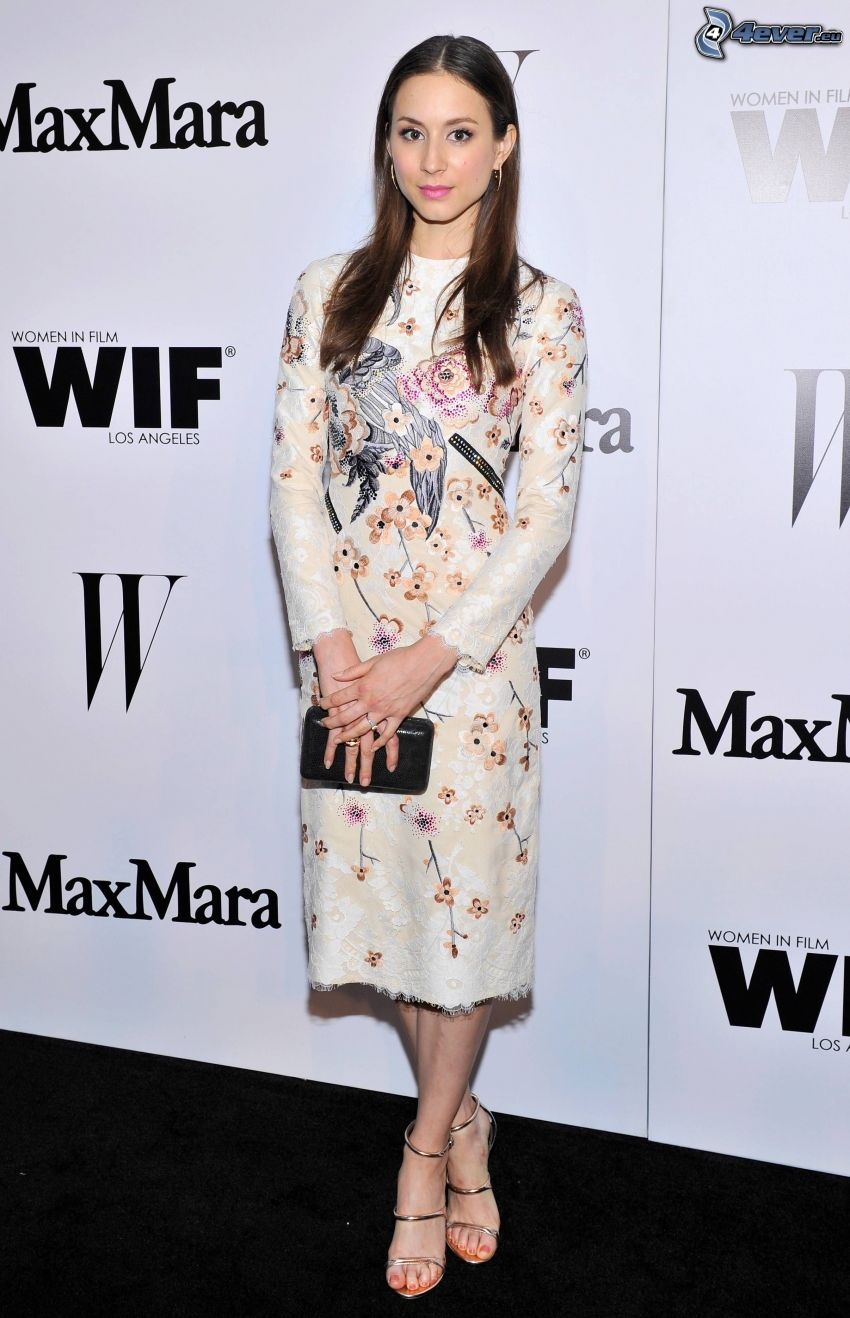 Troian Bellisario, flowered dress