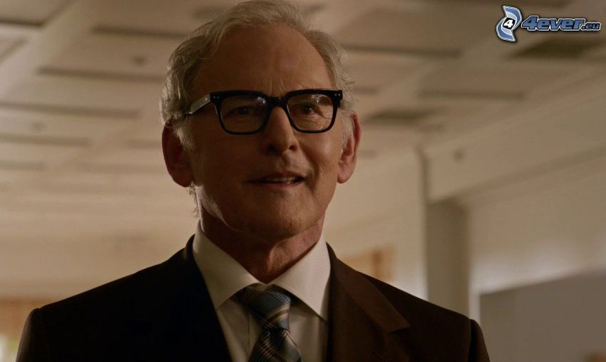 Victor Garber, man with glasses, tie