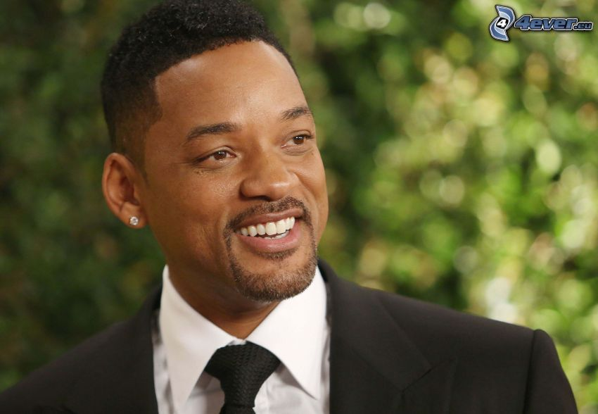 Will Smith, smile, man in suit