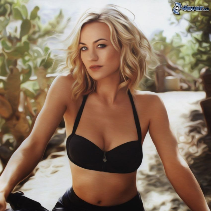 Yvonne Strahovski, cartoon