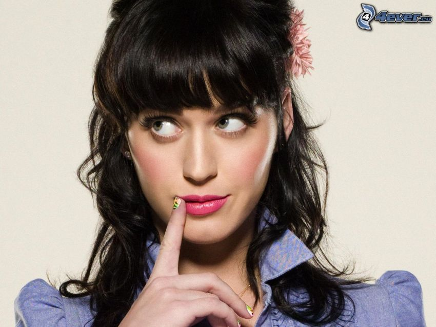 Zooey Deschanel, finger, look