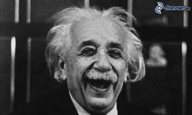 Albert Einstein, laughter