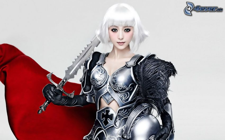 girl with sword, cosplay