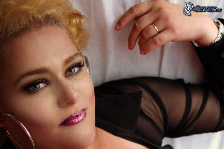 make up woman, hand, ring, earring, transvestism