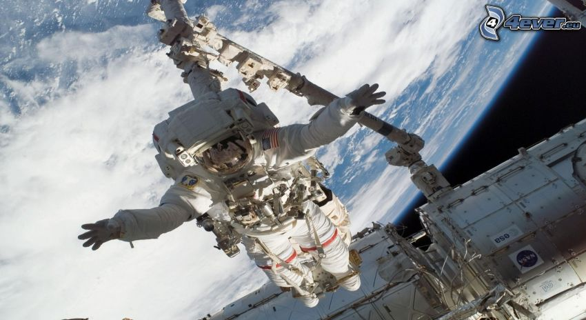 astronaut, International Space Station ISS, Earth
