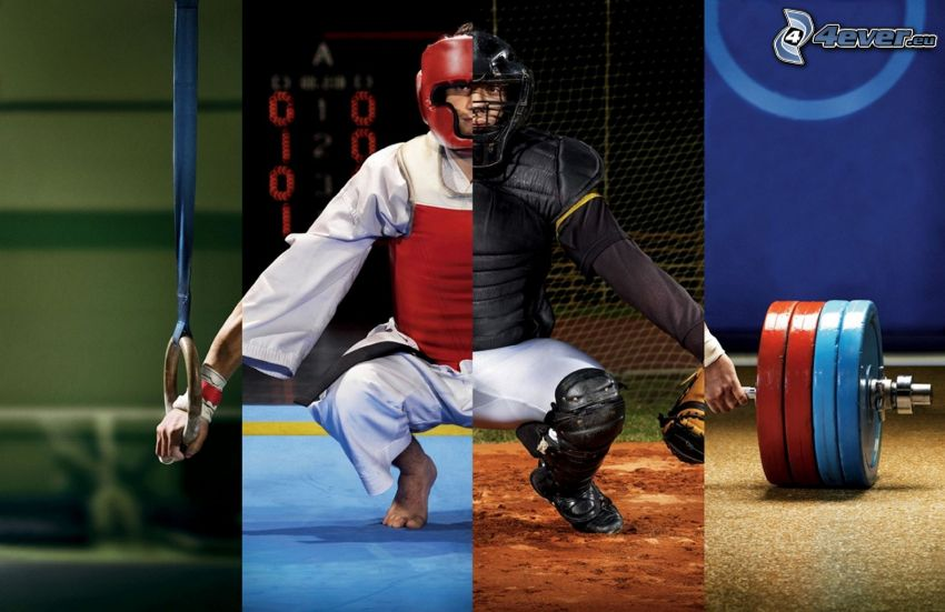 athlete, collage