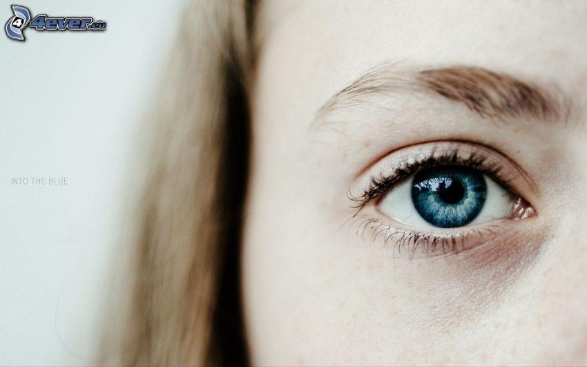 blue eye, woman