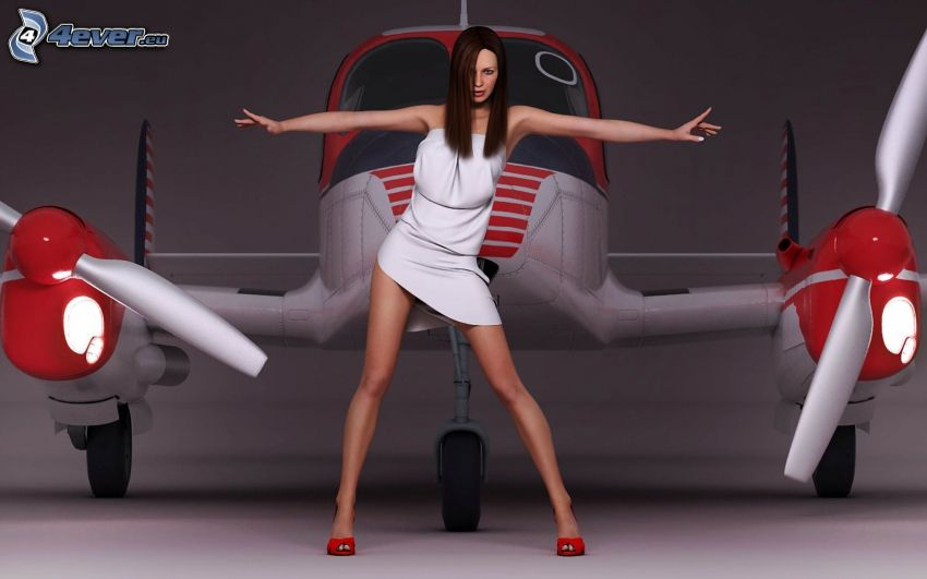 brunette, aircraft