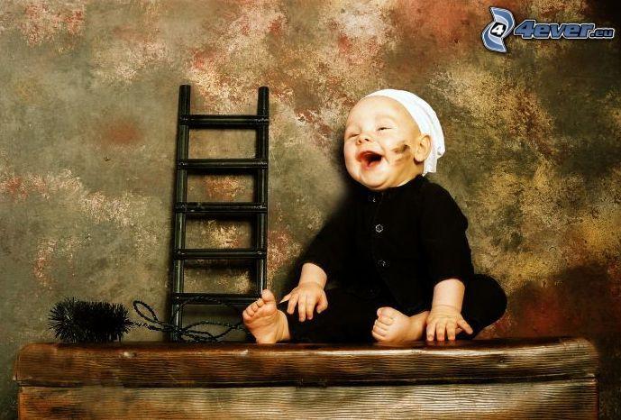 baby, chimney sweep