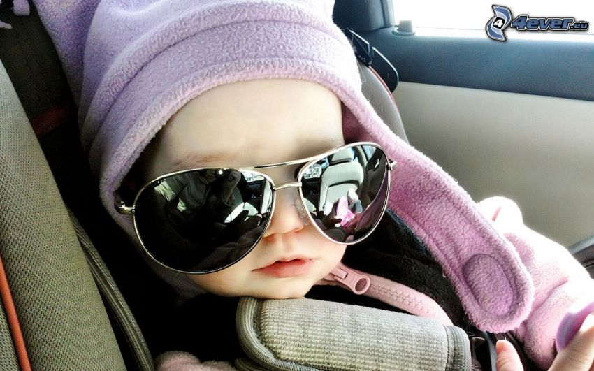 child with glasses, sunglasses