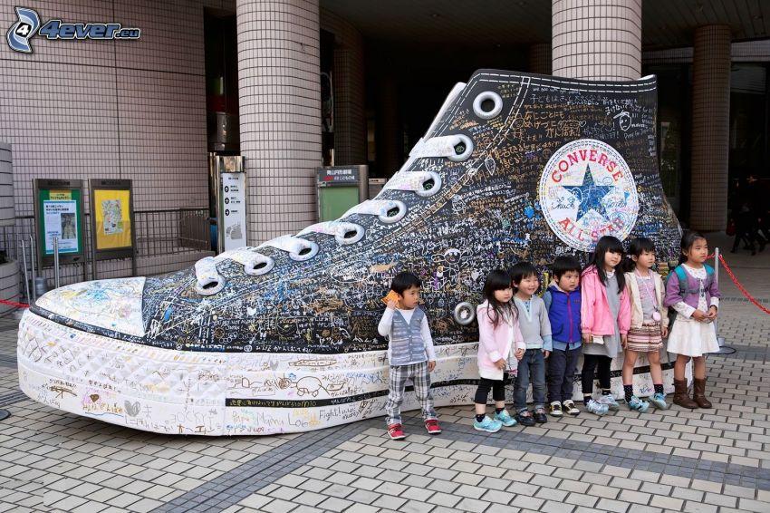children, sneaker, Converse