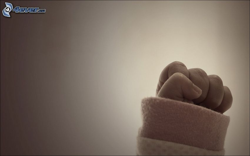hand, fist, baby