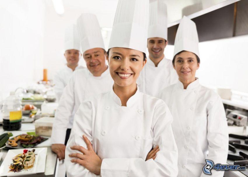 cooks, kitchen