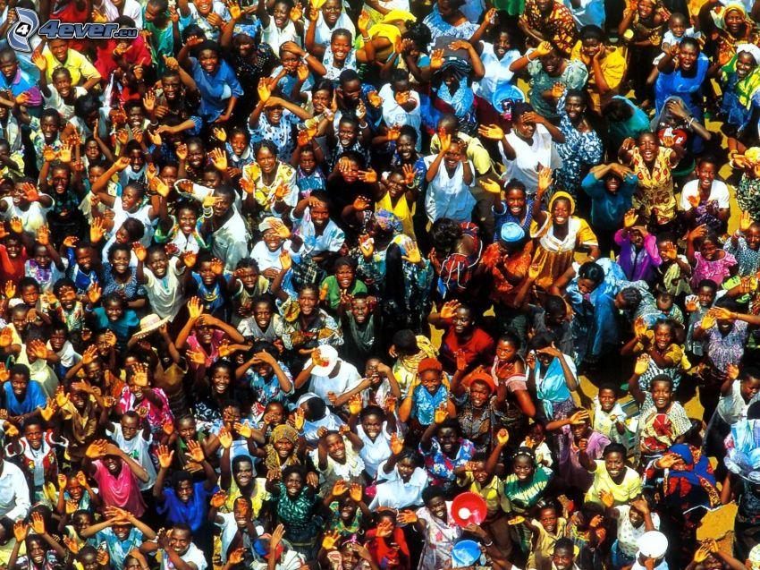 crowd, blacks