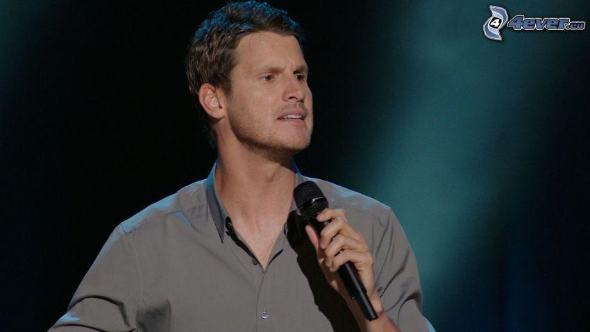 Daniel Tosh, comedian, microphone