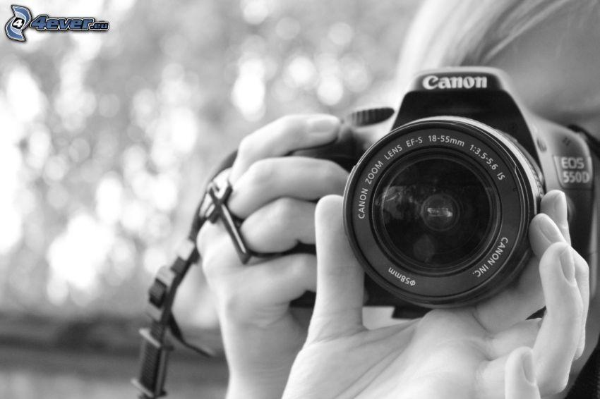 girl with camera, Canon EOS 550D