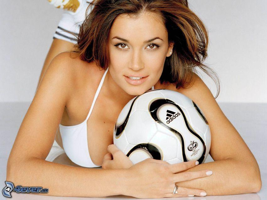 Jana Ina Zarella, soccer ball, Germany 2006