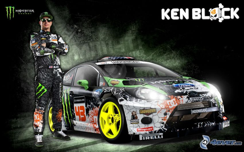 Ken Block, Ford, racing car, Monster