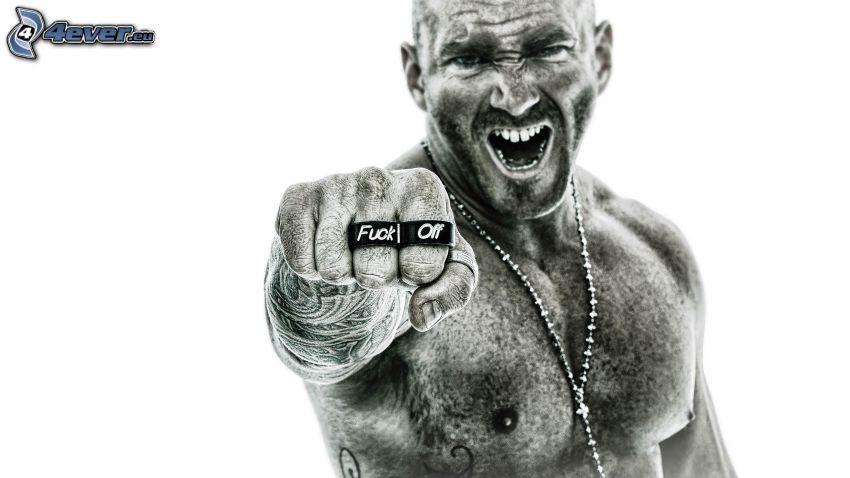 man, fist, fuck