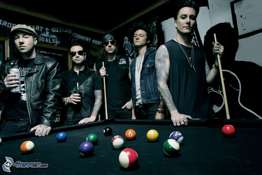 Avenged Sevenfold, billiard, billiard balls