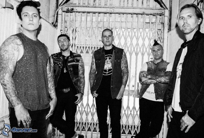 Avenged Sevenfold, black and white photo