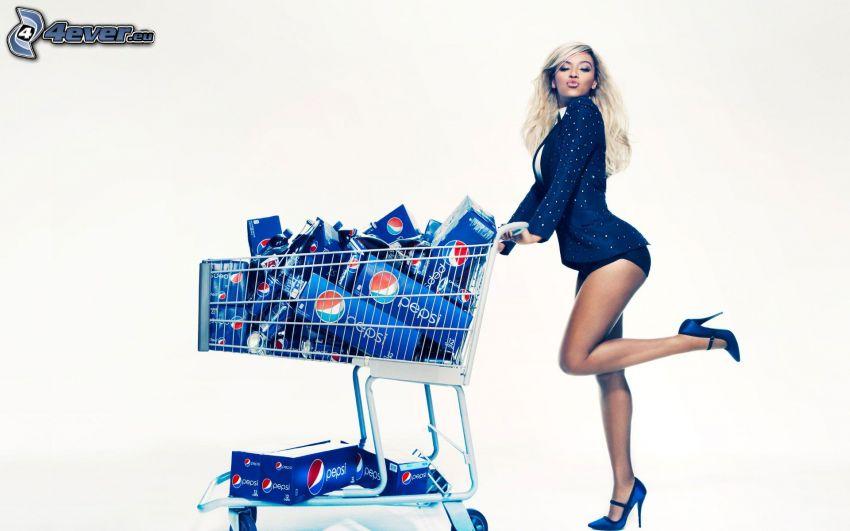 Beyoncé Knowles, shopping basket, Pepsi