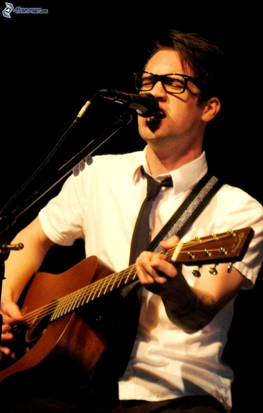 Brendon Urie, singing, guitar