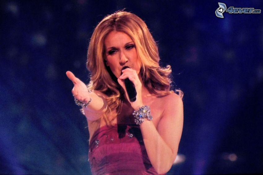 Celine Dion, singing