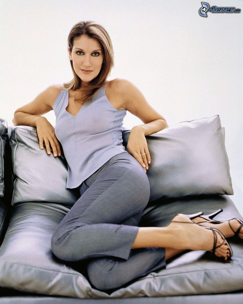 Celine Dion, woman on couch
