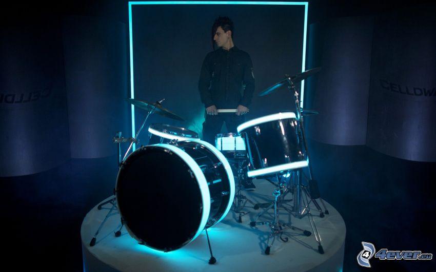 Celldweller, Drums